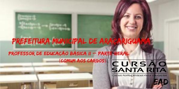 Prefeitura Municipal de Araçariguama: Professor de Educação Básica II – parte geral