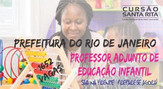 Prefeitura do Rio de Janeiro - Professor Adjunto de Educação Infantil