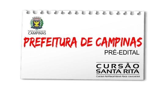 Prefeitura de Campinas - Pré-Edital