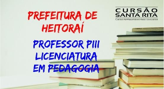 Prefeitura Municipal de Heitoraí - GO - Cargos de Professor PIII