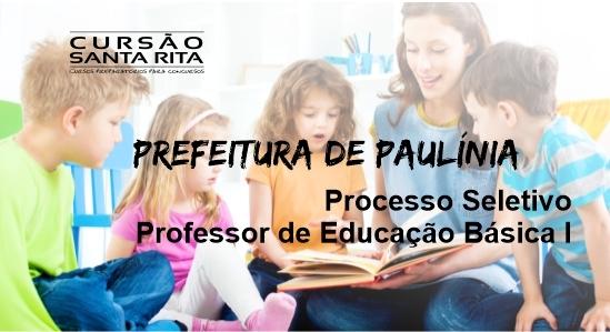 Prefeitura de Paulínia: Professor de Educação Básica I – (PEB I) – Prazo Determinado