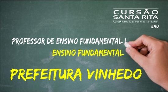 Pref. de Vinhedo: Profº. de Ensino Fund. I - PEB I - EF (Ensino Fundamental)